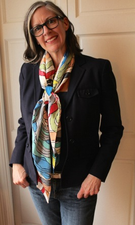 large square silk scarf - loose knot