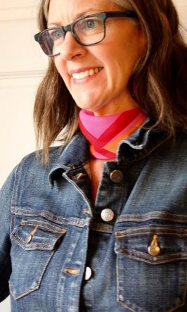 small square silk scarf - choker tie