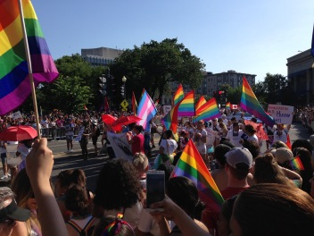 We took in the DC Pride Parade in Dupont Circle - super hot, but super fun! Thank goodness this was the coolest day - around 90!