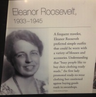 Eleanor Roosevelt was a frontrunner in practicing sustainable consumerism!