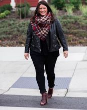leather jacket_blanket scarf