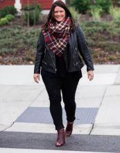 leather jacket_blanket scarf