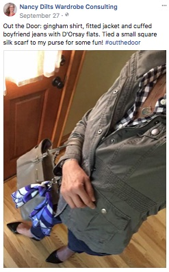 ndwc_#outthedoor_boyfriend jeans gingham shirt fitted jacket