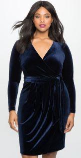 velvet wrap dress
