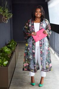 sheer floral kimono duster
