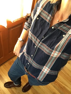 ndwc_plaid shirt and dark wash denim