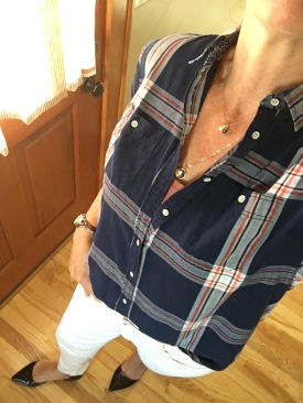 ndwc_plaid shirt and white denim