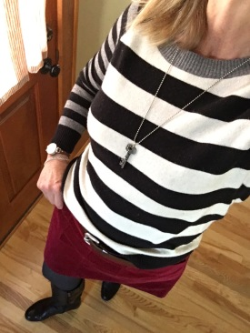 ndwc_striped sweater and skirt